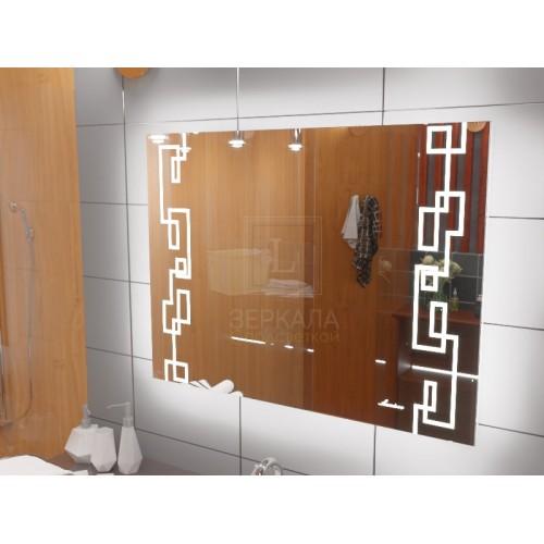 Зеркало с подсветкой для ванной комнаты Ливорно