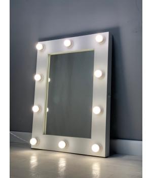 Гримерное зеркало в комнату с подсветкой 80х60 см 12 ламп