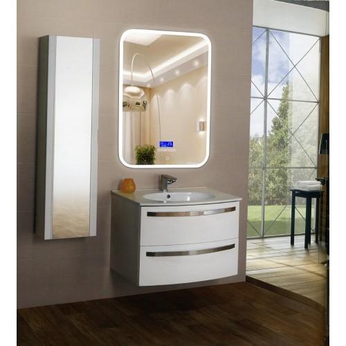 Зеркало в ванную комнату с контурной подсветкой светодиодной лентой